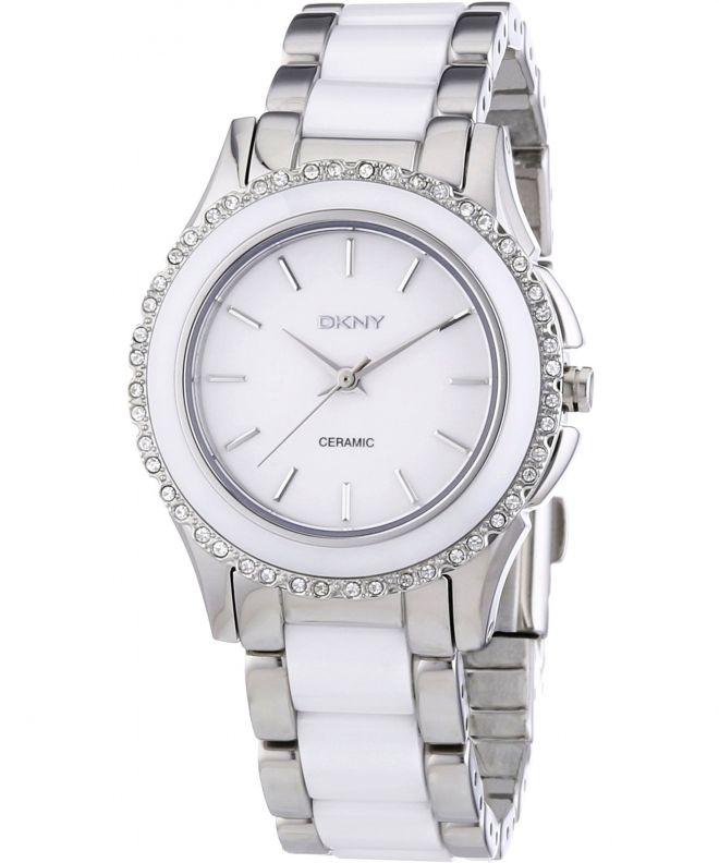 zegarek damski ceramica biały dkny