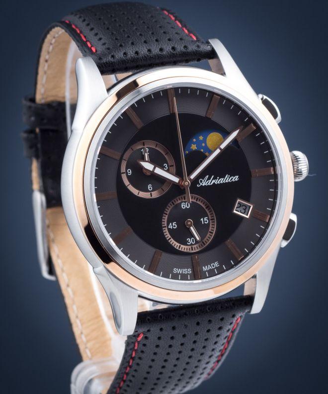 Zegarek męski Adriatica Moonphase Chronograph  A8282.R214CH