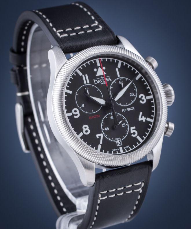 Zegarek męski Davosa Aviator Flyback Chronograph 162.499.55