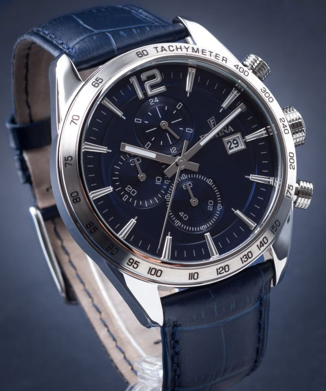 niebieski zegarek męski