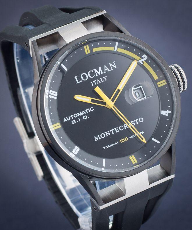 Zegarek męski Locman Montecristo Automatic Titanium 0511BKBKFYL0GOK