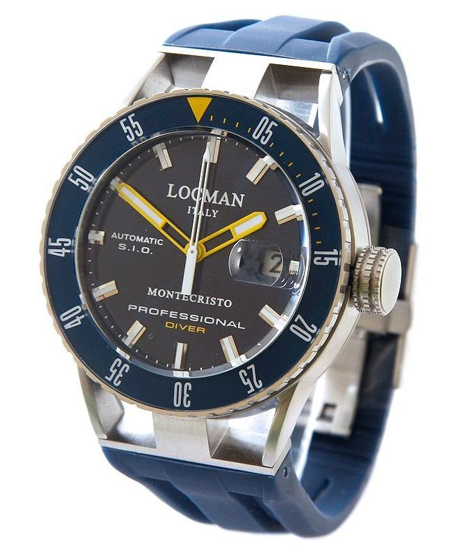 Zegarek męski Locman Montecristo Professional Diver Automatic 051300BYBLNKSIB