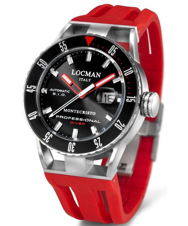 Zegarek męski Locman Montecristo Professional Diver Automatic 051300KRBKNKSIR