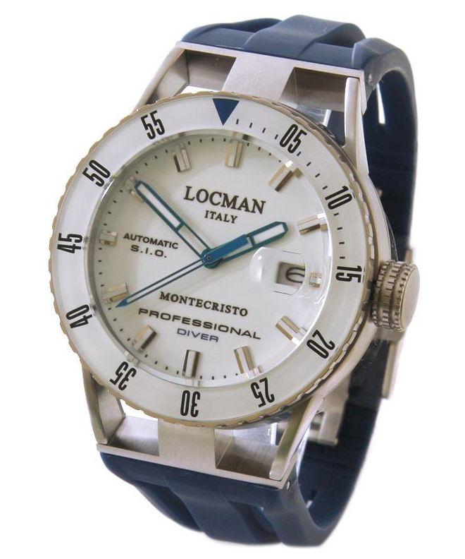 Zegarek męski Locman Montecristo Professional Diver Automatic 051300WBWHNKSIB