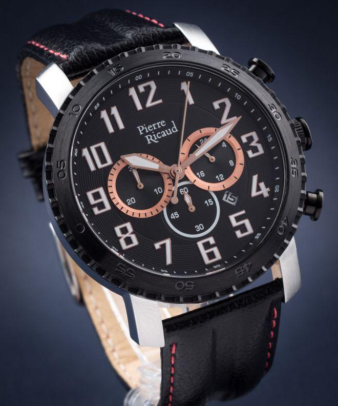 Zegarek męski Pierre Ricaud Classic Chronograph P91081.Y22RCH