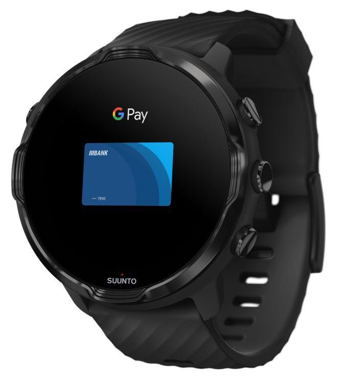 Zegarek smartwatch Suunto 7 All Black Wrist HR GPS SS050378000