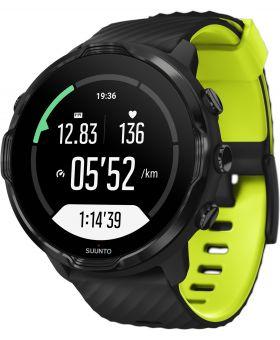 Zegarek smartwatch Suunto 7 Black Lime Wrist HR GPS