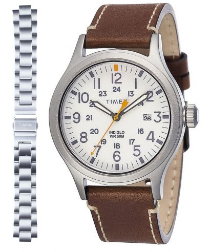 Zegarek męski Timex Allied zestaw (bransoleta + pasek)