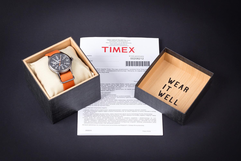 Pudełko i gwarancja Timex