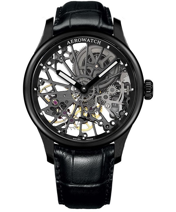 Zegarek męski Aerowatch Renaissance Skeleton Cobweb 50981-NO17