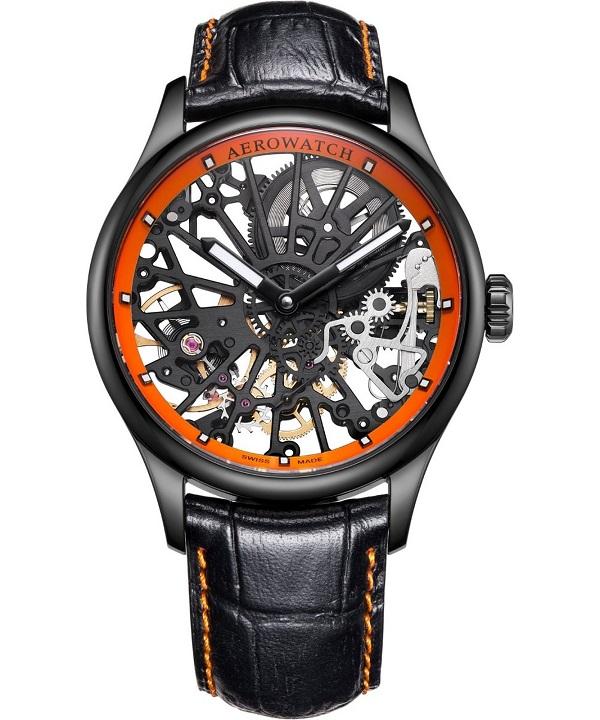 Zegarek męski Aerowatch Renaissance Skeleton Cobweb 50981-NO18
