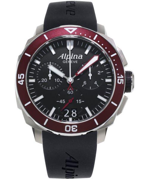 Zegarek męski Alpina Seastrong Diver 300 Chronograph AL-372LBBG4FBV6