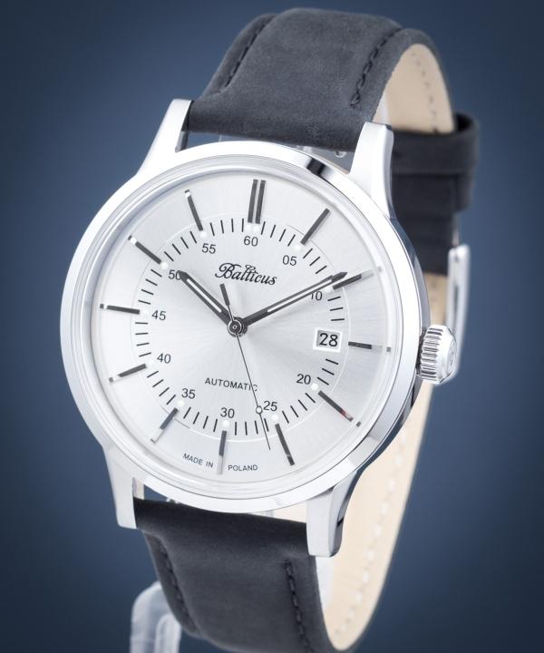 Zegarek męski Balticus Volans Srebrny Automatic