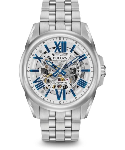 zegarek meski bulova classic skeleton automatic 96a187