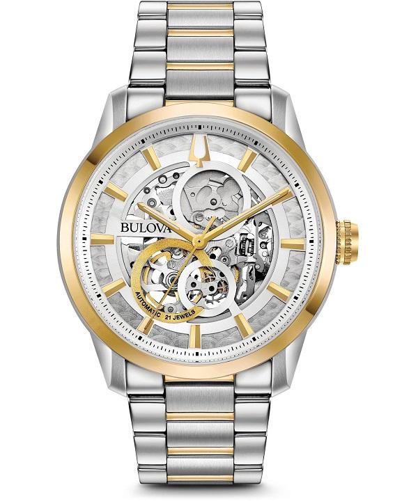 zegarek meski bulova classic skeleton automatic 98a214
