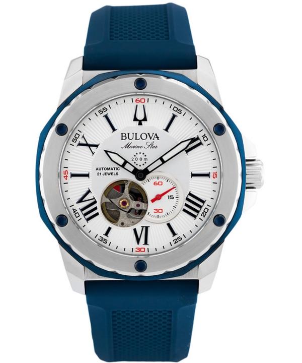 zegarek-meski-bulova-marine-star-automatic-open-heart-98a225-opis