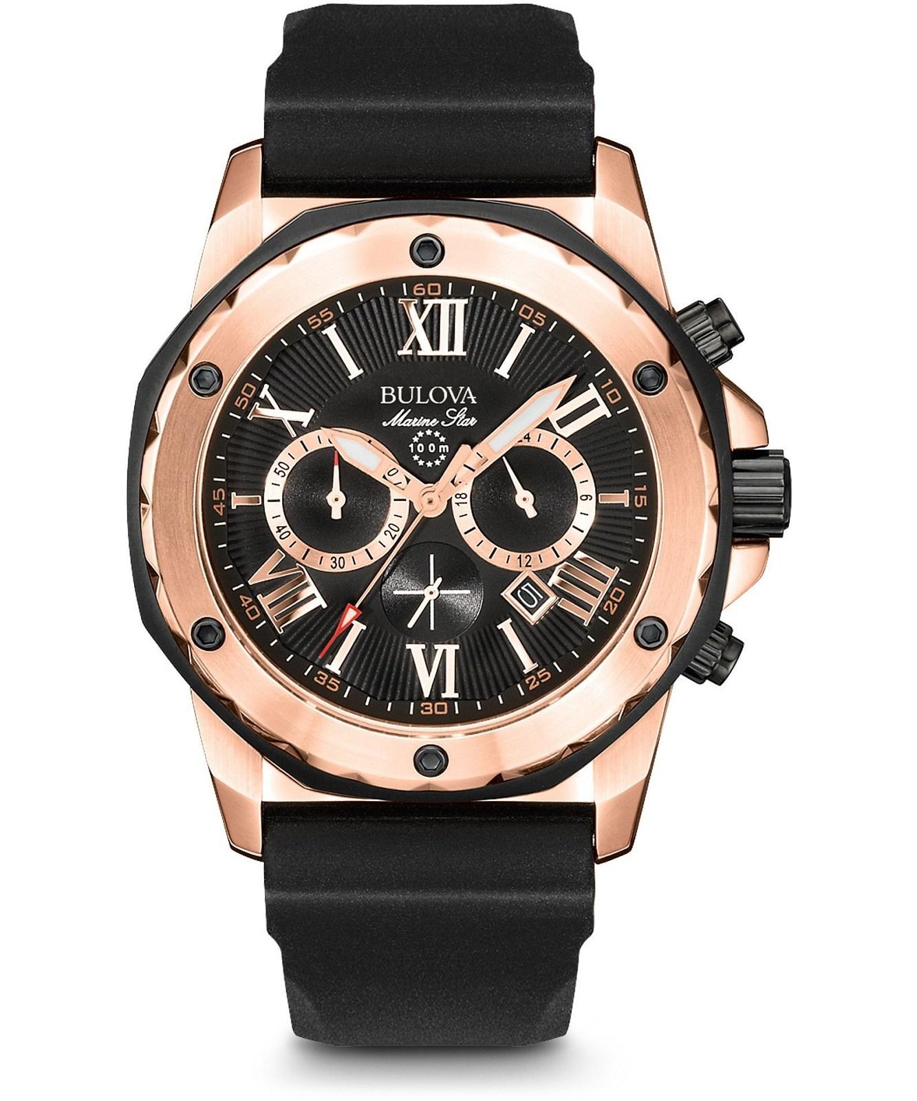 zegarek meski bulova marine star chronograph 98b104