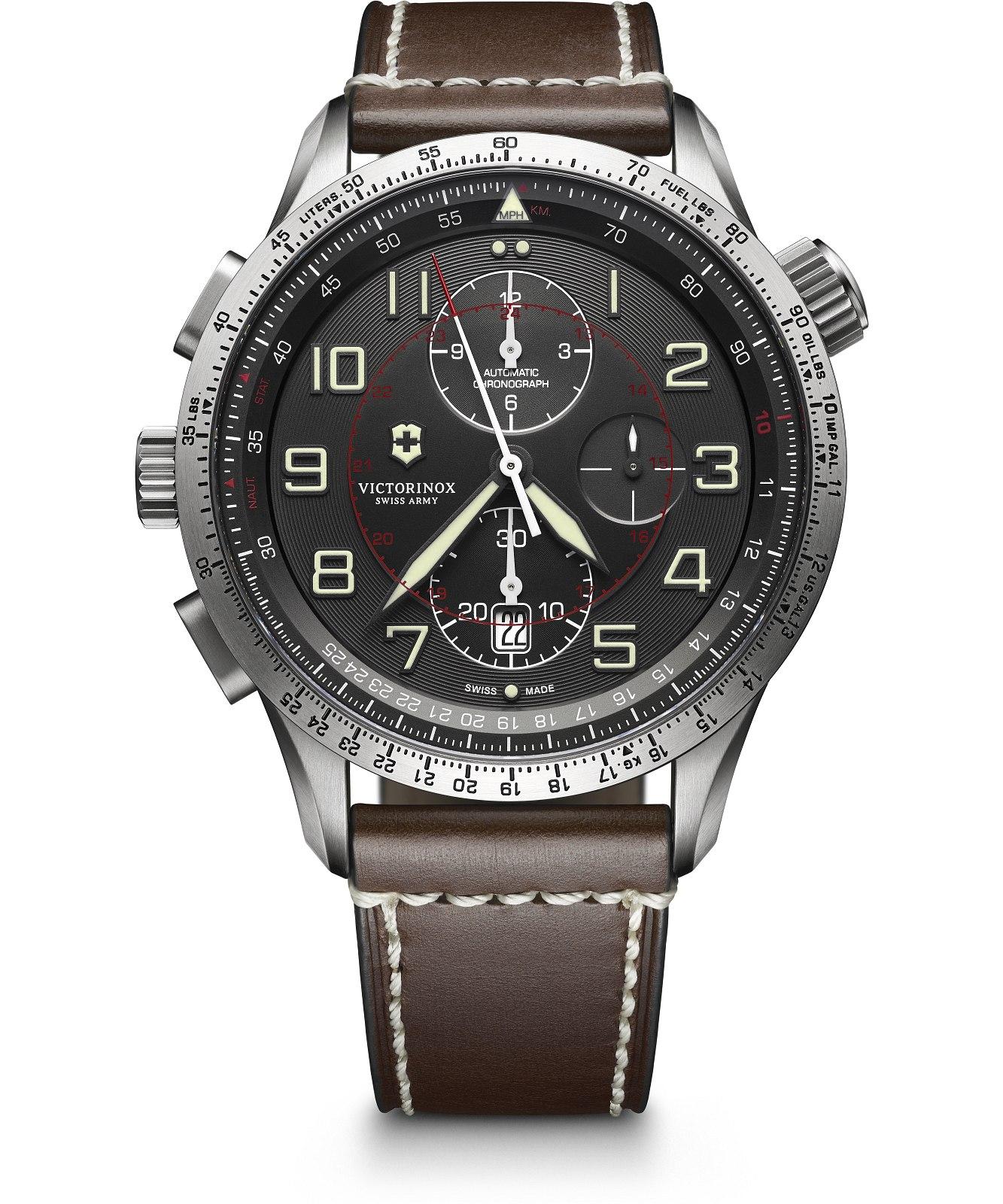 Zegarek męski Victorinox Airboss Mach 9 Automatic Valjoux Chronograph 241710