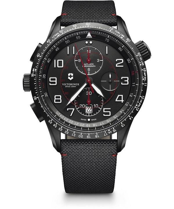 Zegarek męski Victorinox Airboss Mach 9 Black Edition Automatic Valjoux Chronograph 241716