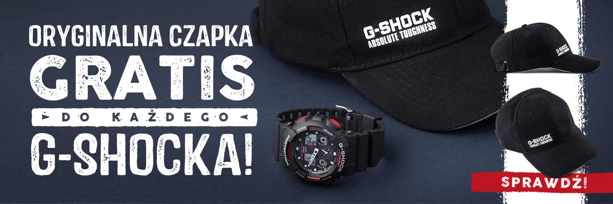 Zegarki G-Shock + Czapka G-SHOCK gratis