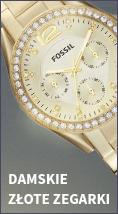 Złote zegarki damskie
