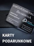 Karty podarunkowe Zegarownia.pl