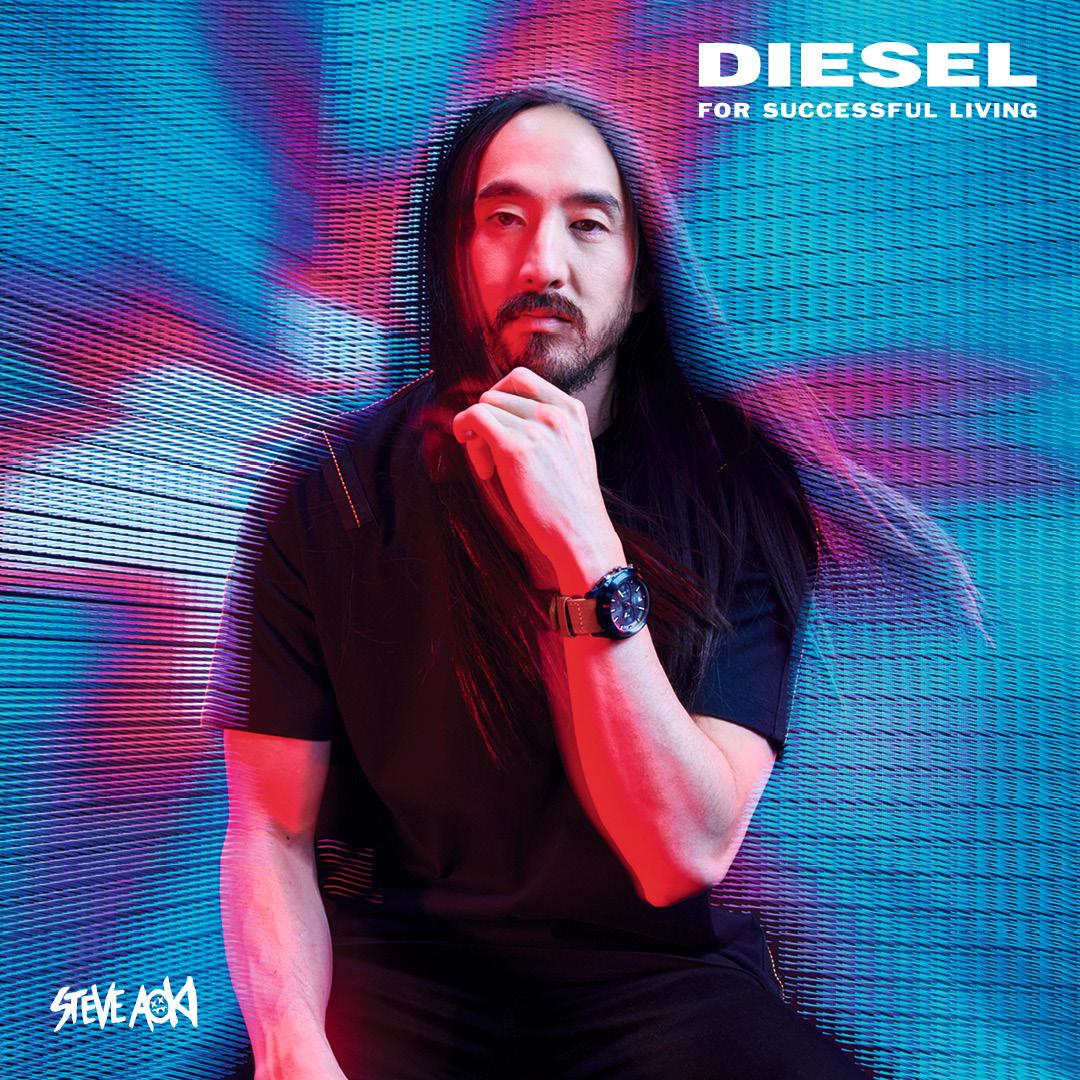 DJ Steve Aoki twarz marki Diesel