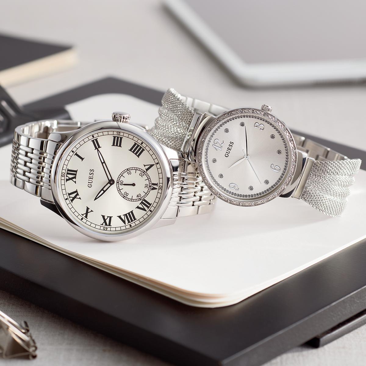 Guess zegarki srebrne