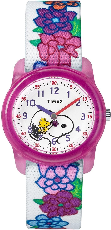 Zegarek dziecięcy Timex Kids Analog X Peanuts Snoopy Flowers TW2R41700