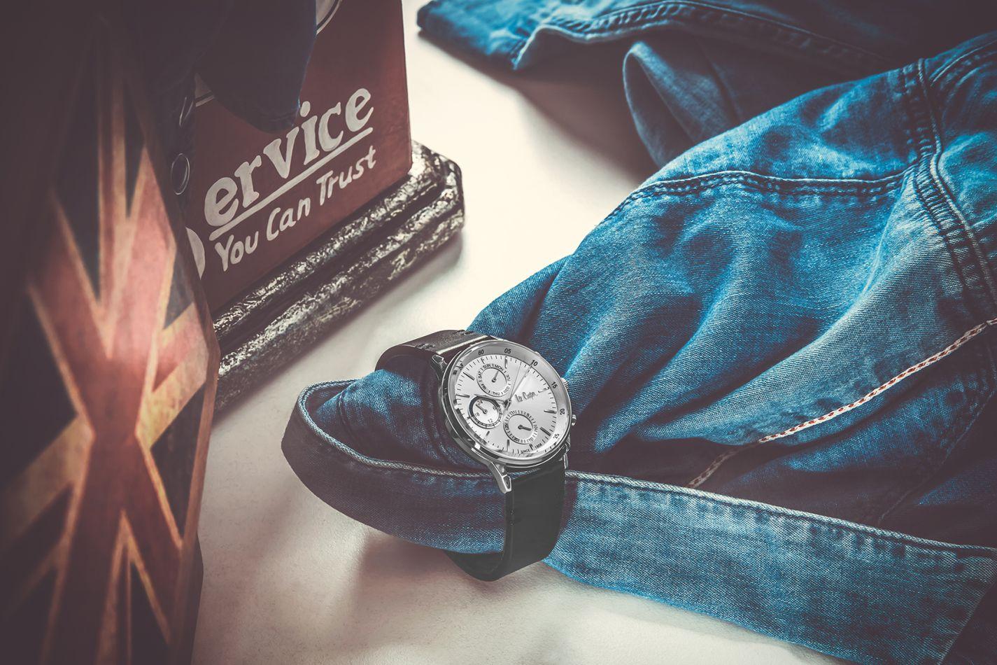 zegarek Lee Cooper czarny pasek