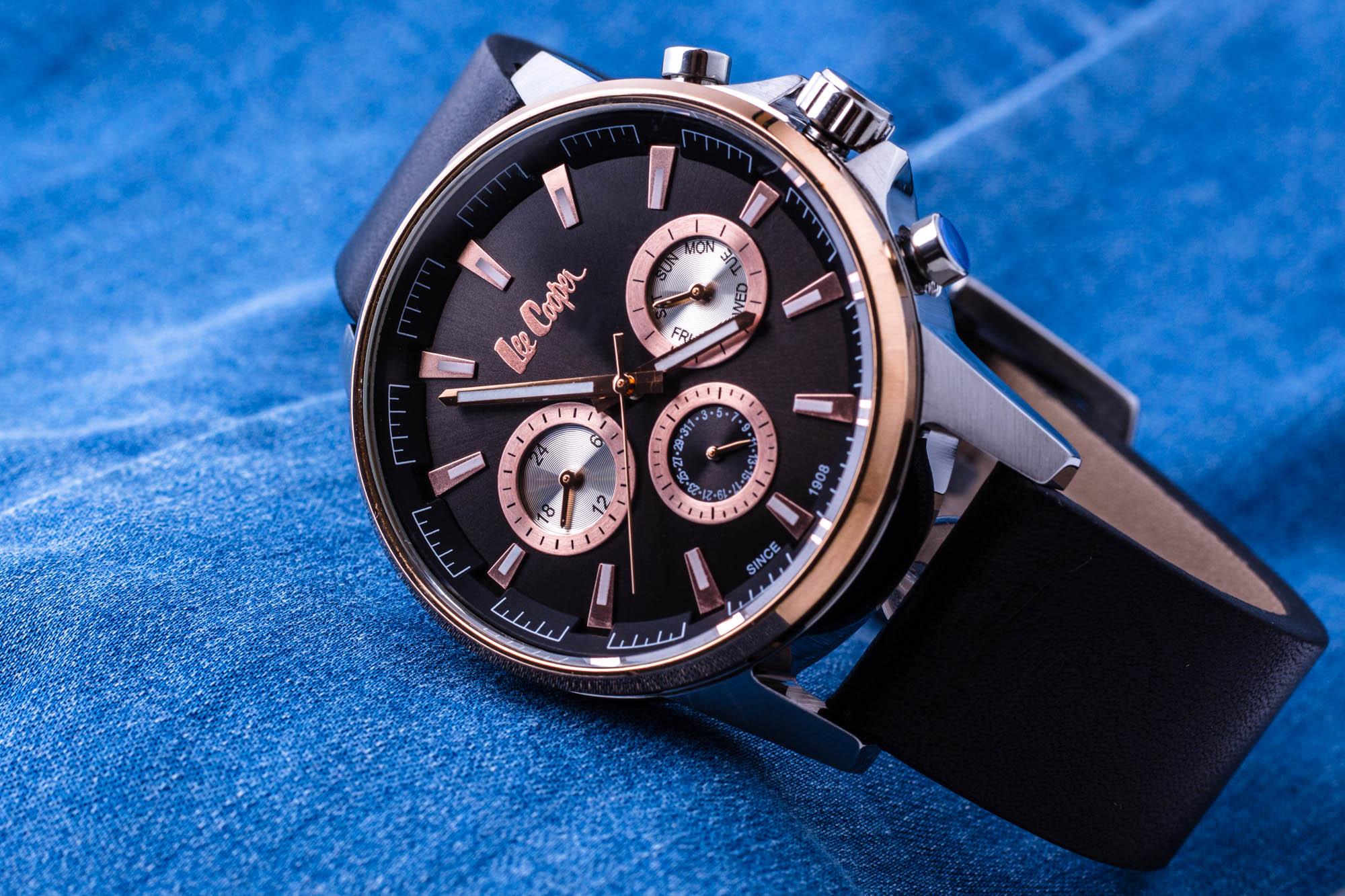 zegarek męski Lee Cooper czarny