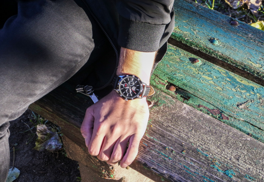 Zegarek z datownikiem Q&Q Leather CE02-512 recenzja