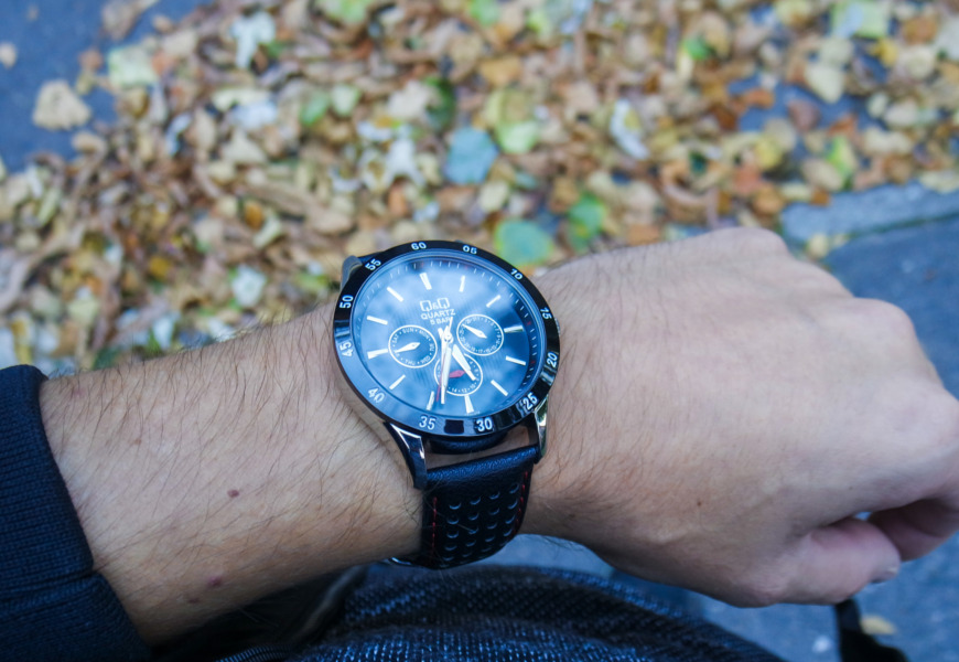 Zegarek męski Q&Q Leather CE02-512 recenzja