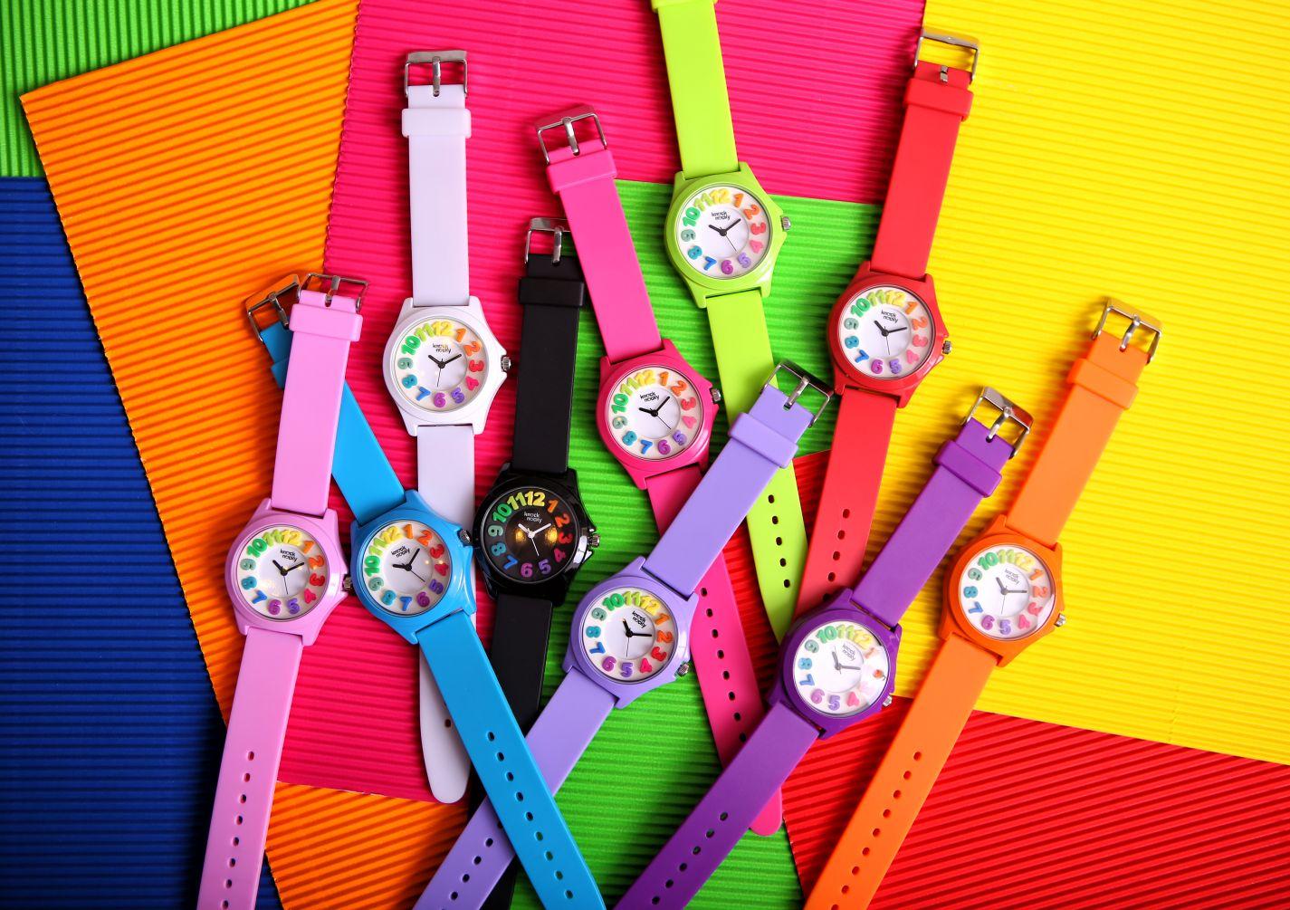 zegarki dziecięce Knock Nocky kolorowe
