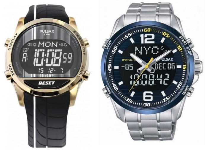 zegarki Pulsar seria Active Man kolaż