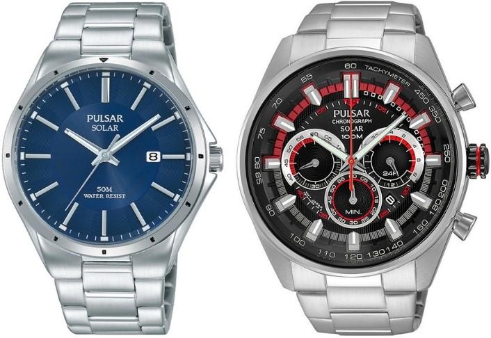 zegarki Pulsar seria Solar kolaż