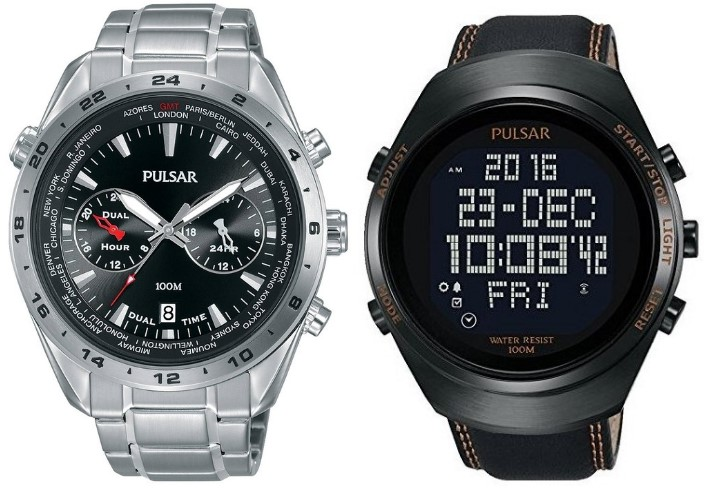 zegarki Pulsar seria Sports kolaż